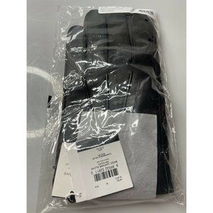 NEW AUTHENTIC COACH MENS BASIC BLACK LEATHER GLOVES #54182 SIZE EXTRA LARGE